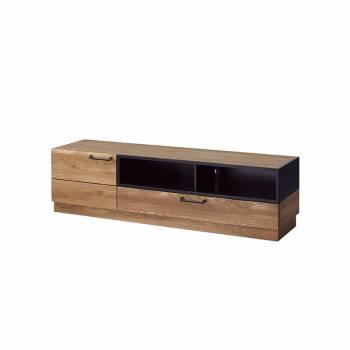 Meuble TV 1 porte, 1 tiroir et 2 niches