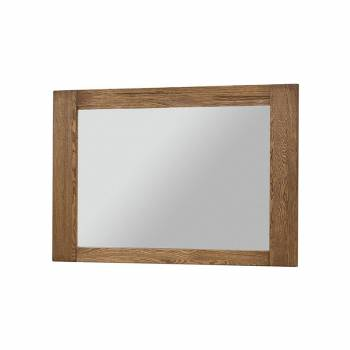 Miroir encadré chêne