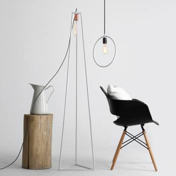 Lampadaire de design industriel