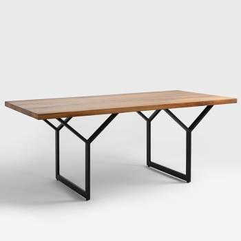 Table avec plateau bois...