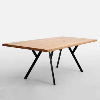 Table au plateau en chêne...
