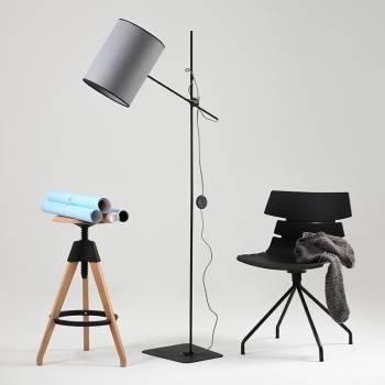 Lampadaire gris design