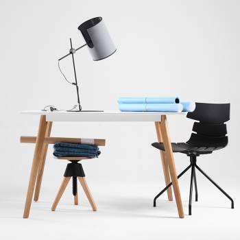 Lampe � poser grise design